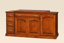 Sewing Center II • Cherry with Traditional Stain • Optional back wing
